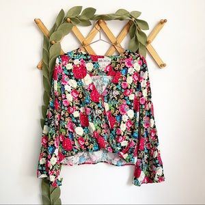 Wildfox Flower Delivery Wrap Top